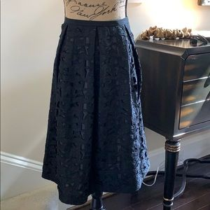 Talbots A-line pleated skirt
